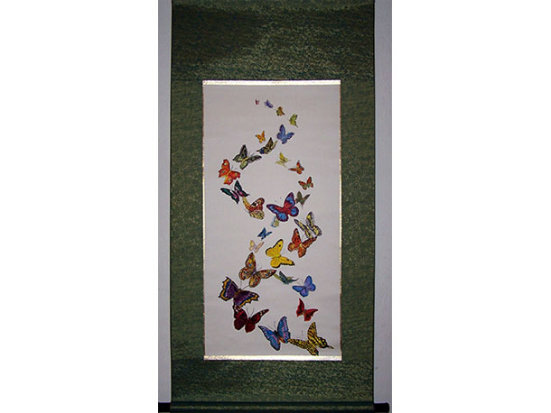 Butterfly Spiral on Scroll