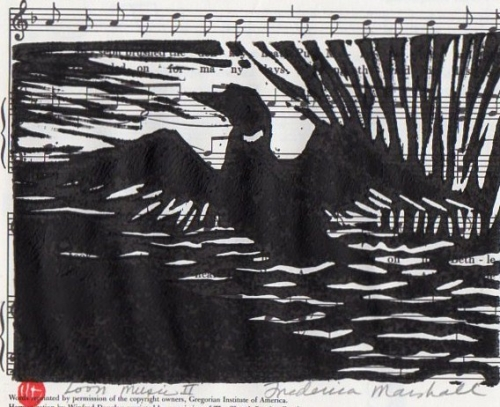 Loon Music 2 Block Print