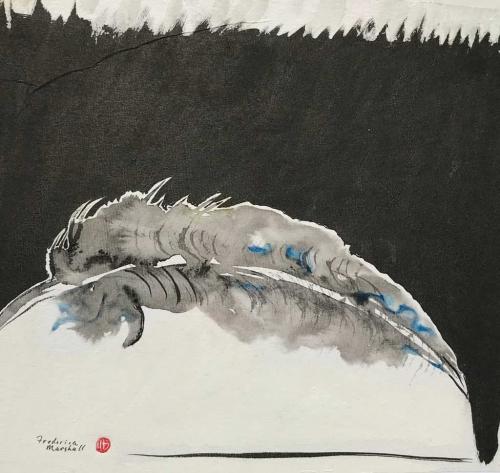 Zen Feather Painting