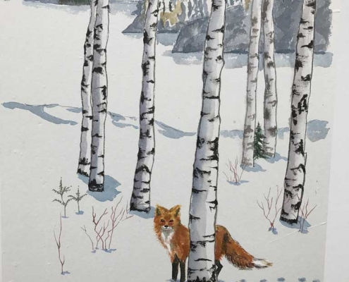 Winter Fox by Frederica Marshall