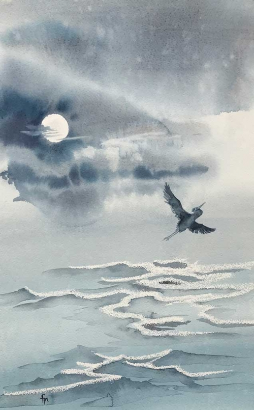 Spirit Flight Watercolor by Frederica Marshall