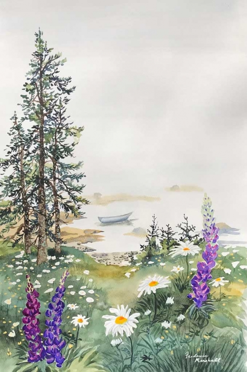 Lupine, Fog by Frederica Marshall